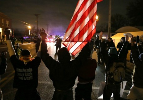 <> on November 24, 2014 in Ferguson, Missouri.