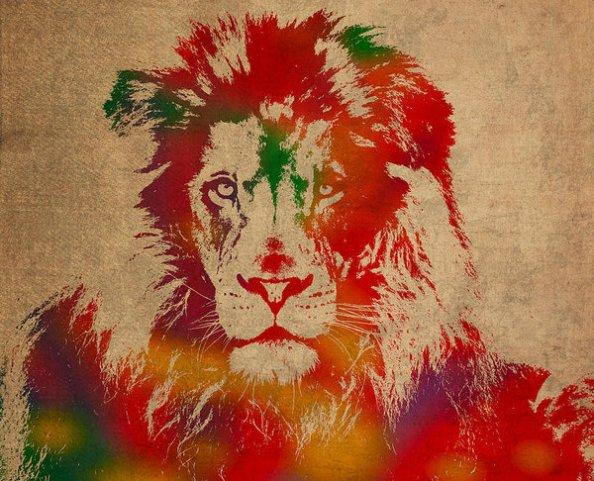 lion-watercolor-portrait-on-old-canvas-design-turnpike-1