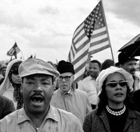 Glory bound: King and his wife, Coretta, lead the marchers on Jefferson Davis Highway en route to Montgomery, Alabama. 1965