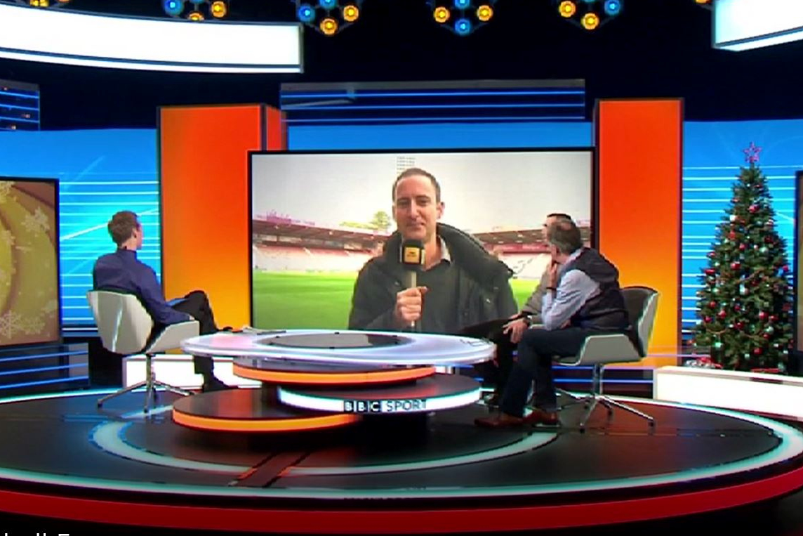 55FN appears live on Football Focus