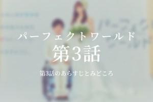 パーフェクトワールド|3話ドラマ動画無料視聴はこちら【5月7日放送】