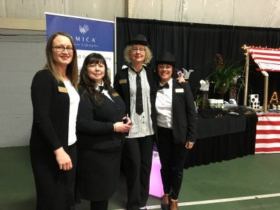 Amica's staff dressed for a magical event!
