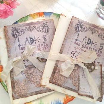 Steampunk Wedding Clock Cog Themed