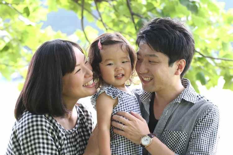 パパ、ママと笑顔