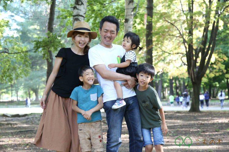 円山公園家族写真撮影会こむの木