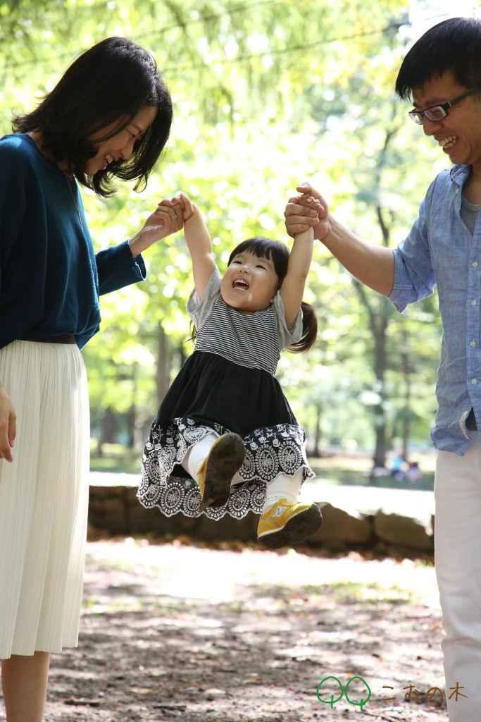年賀状用家族写真こむの木