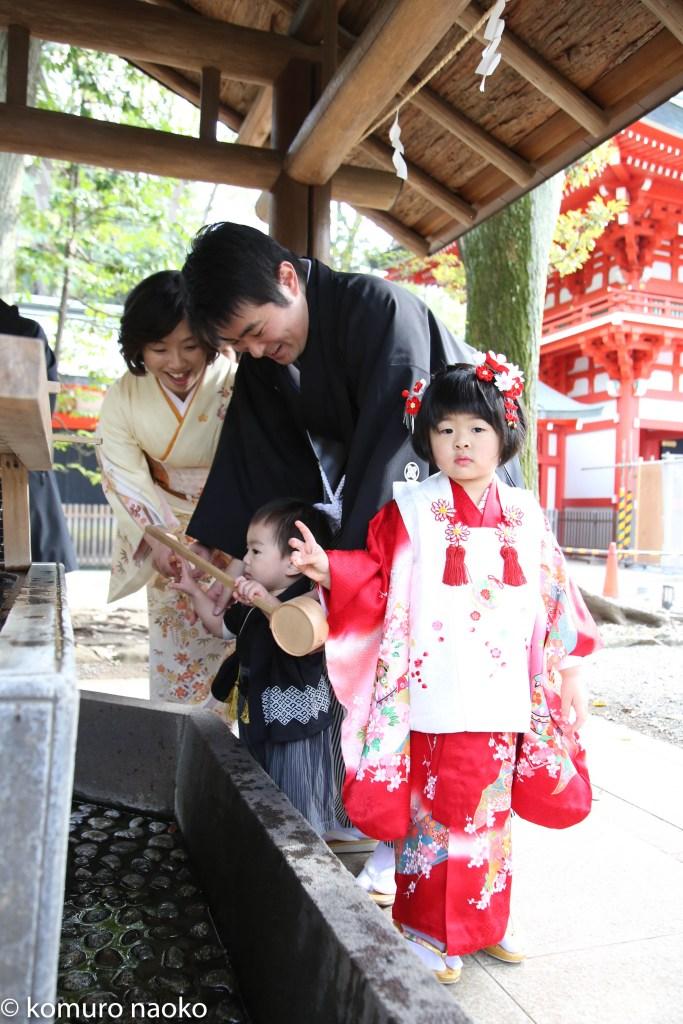 井草八幡宮七五三家族写真