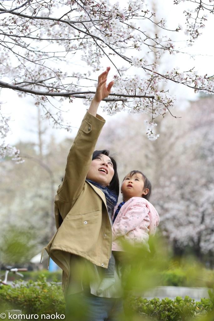 くにたち桜撮影会家族写真