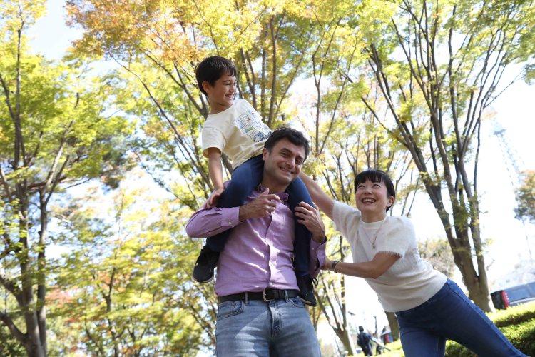 府中の森公園こむの木撮影会家族写真