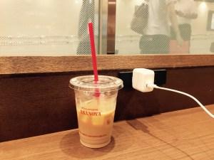 東京駅の電源カフェ。ブランジェ浅野屋in東京駅