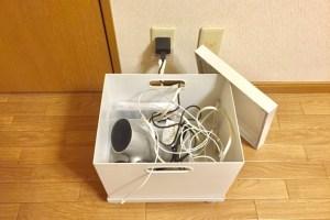無印良品ファイルボックスでケーブルぐちゃぐちゃを解決のアイキャッチ