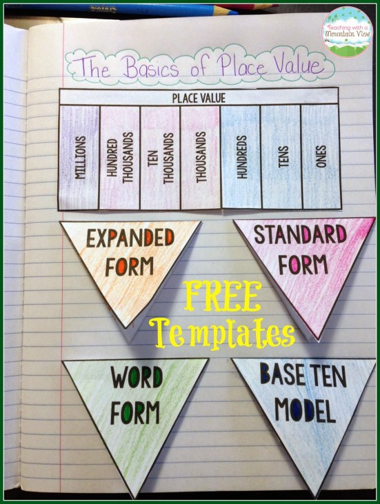 Free Place Value Foldable1