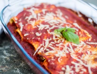 Canneloni med spenat och gorgonzola