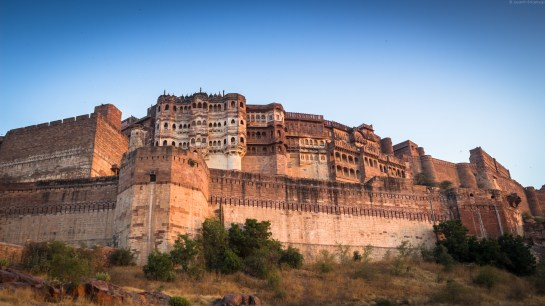Mehrangarh Fort, Palace in View