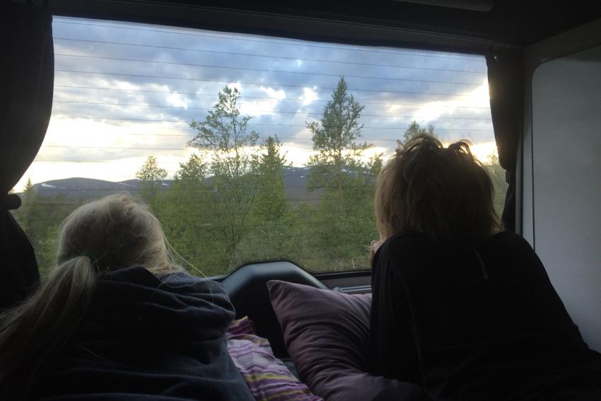 Schöne Aussicht aus dem Camper