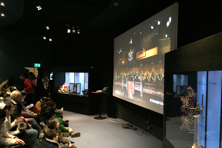 Lifeübertragung der Nobelpreisverleihung im Nobelmuseum