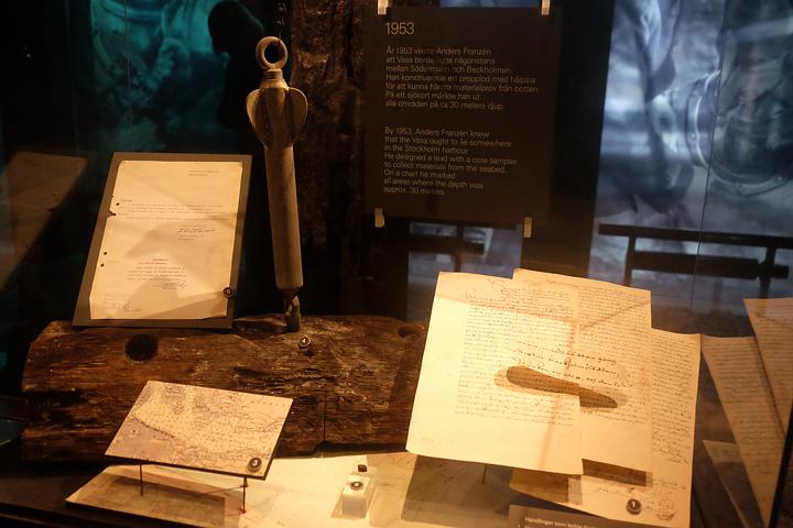 Mit diesem Senk- oder Schnurlot fand Anders Franzén die versunkene Vasa