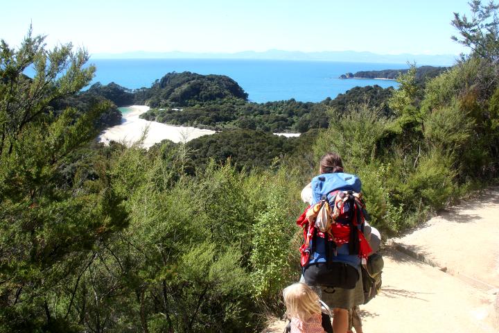 58GradNord Abel Tasman Mit Kindern wandern Strandaussicht