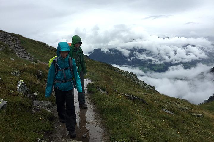 58GradNord - Karnischer Höhenweg - Durch den Regen