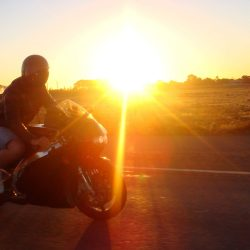 Happy Sunset Motorbike