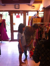 Here I am getting measured for my dress.