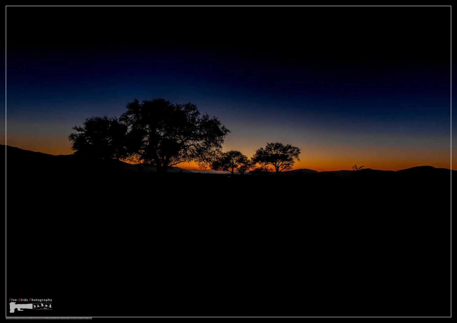 Sunset at the namib desert in Namibia