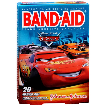 Band-Aid Children's Adhesive Bandages, Cars Assorted, 20 ea