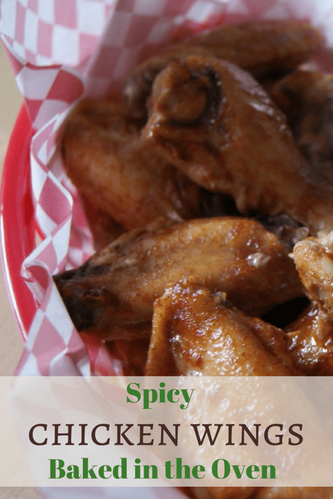 Spicy oven baked chicken wings. These are fun party food appetizers. | 5 dinners1hour.com