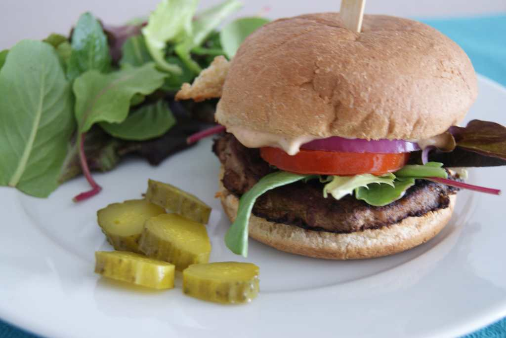 Knock off In N Out Burgers - These are GOOD! I even healthy'd em up a bit. | 5dinners1hour.com