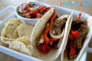 This Oven Beef Fajitas recipe is great for when you cant get to your grill | 5dinners1hour.com