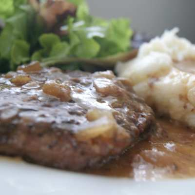 Healthy Slow Cooker Salisbury Steak Recipe