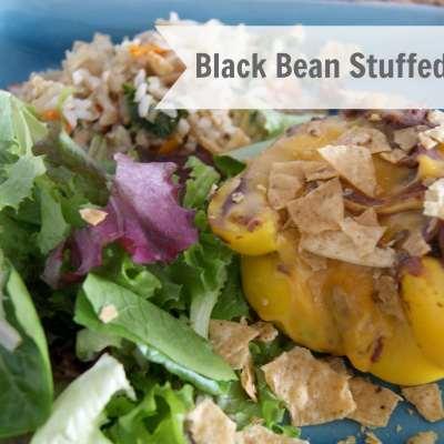 Gluten Free Black Bean Stuffed Bell Peppers