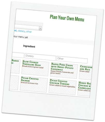 plan your menu polaroid