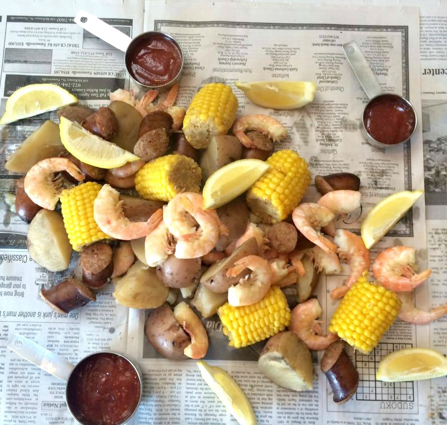 crockpot slow cooker cajun shrimp boil | 5dinners1hour.com
