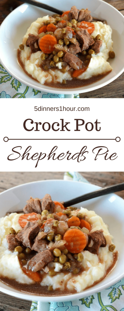Slow Cooker Shepherds Pie! Comfort food at its finest.   5dinners1hour.com