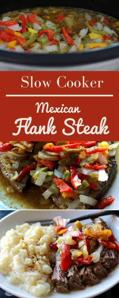Slow Cooked Mexican Flank Steak. By far the best slow cooker meal to date! | 5dinners1hour.com