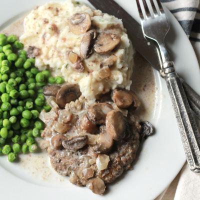 Creamy Slow Cook Salisbury Steak