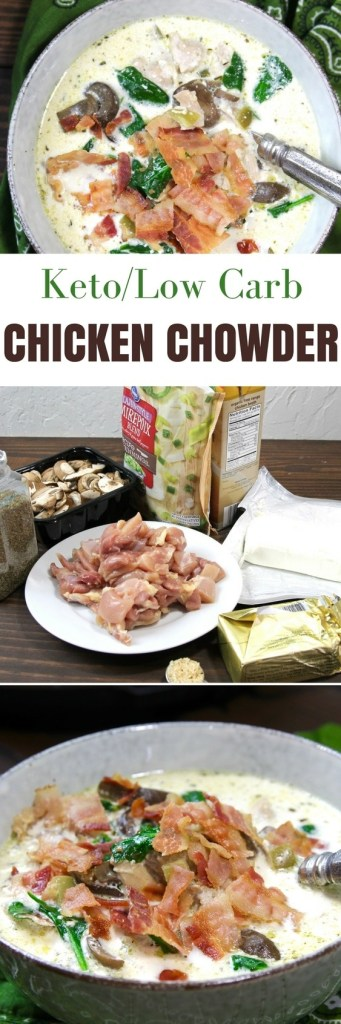 Keto Instant Pot Chicken Bacon Chowder | https://5dinners1hour.com/keto-instant-pot-chicken-bacon-chowder/
