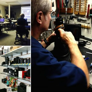 camera repair, photography class collage