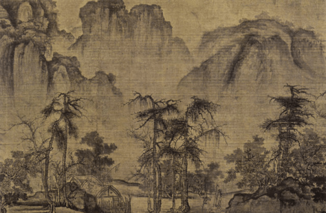 Kuo Hsi ink on silk
