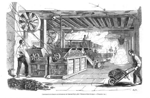 French sugar beet mill, 1843