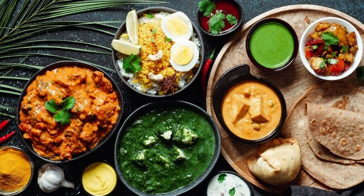 Indian food and indian cuisine dishes, restaurant 5Elements Rijnsaterwoude