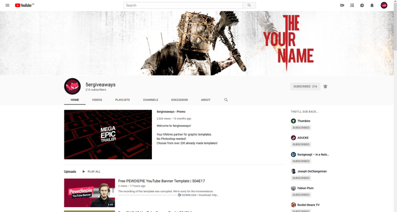 Evil Within Banner Example