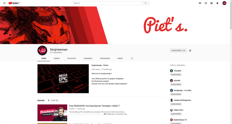 Red Gradient Banner Example