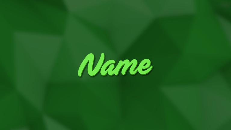 Polygon Green Banner