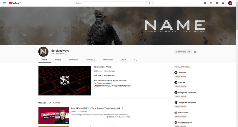 Call of Duty Banner Example