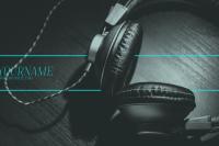 Headphones YouTube Banner Template