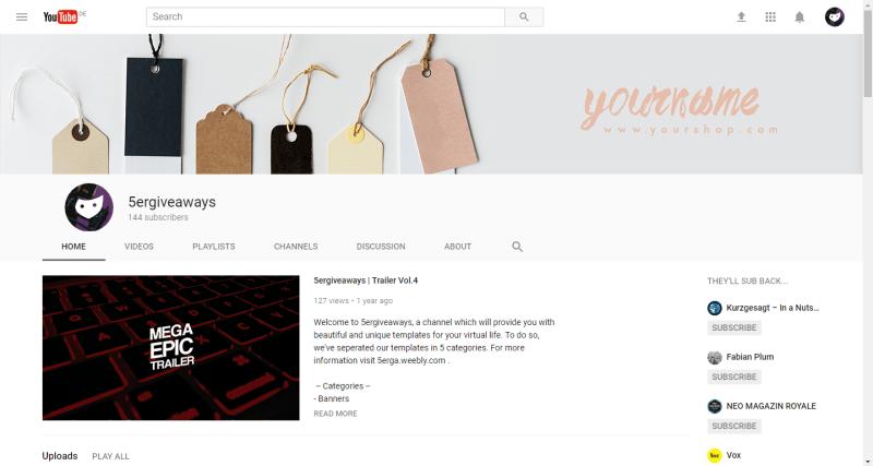 Online Shop Banner Example
