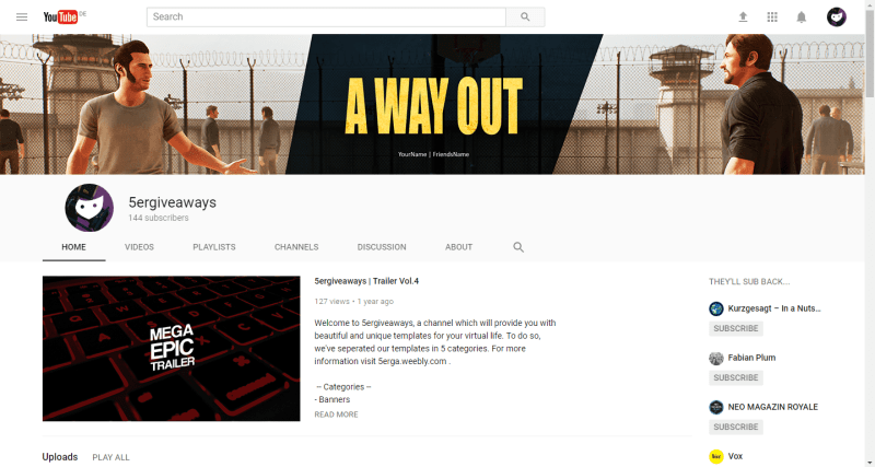 A Way Out Banner Example