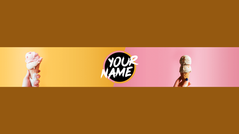 Ice Cream YouTube Banner